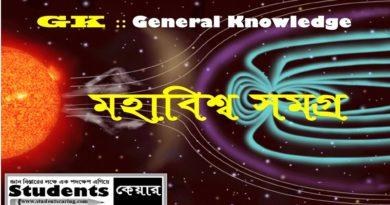 মহাকাশ সমগ্র পর্ব-১ (General Knowledge)
