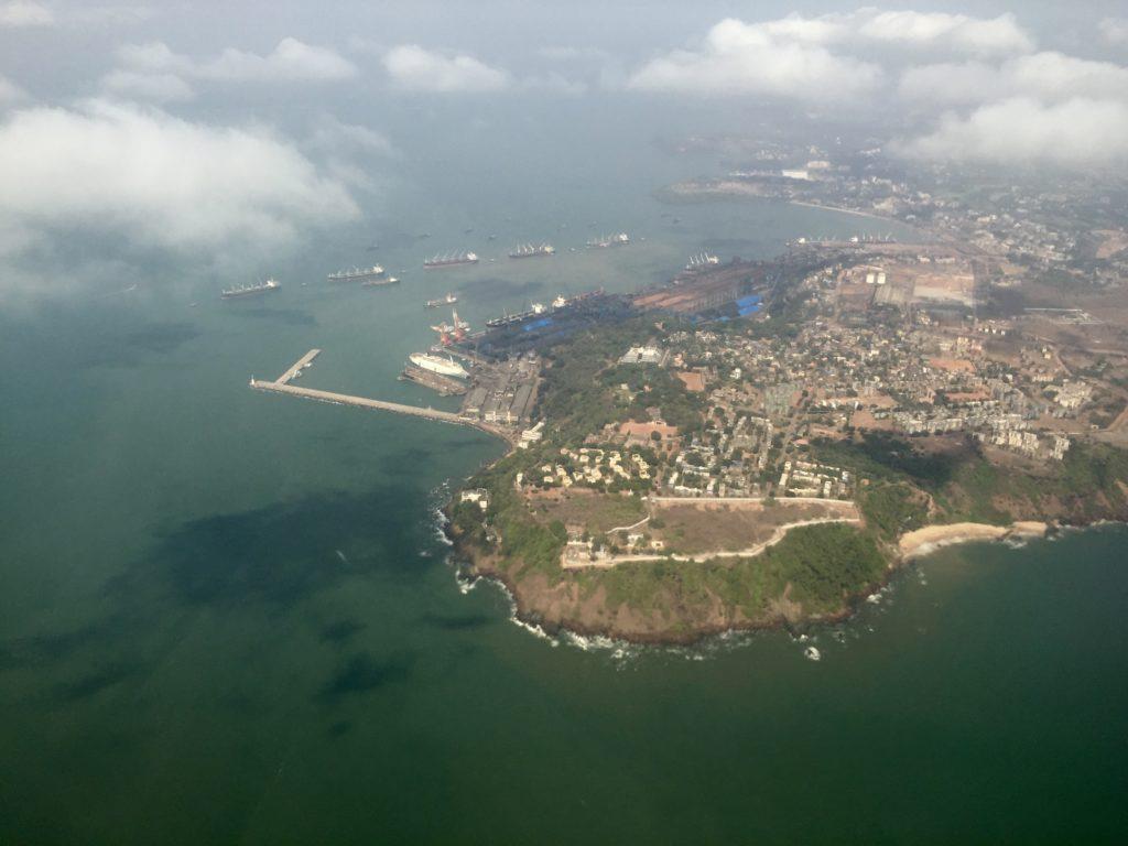 U.S Navy at the Mormugao Port in Goa.
