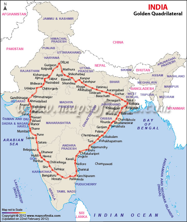 Golden Quadrilateral Project of India