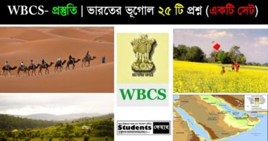 Geography for WBCS MCQ