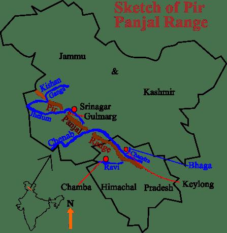 পীরপঞ্জাল পর্বতের সর্বোচ্চ শৃঙ্গটি হল ইন্দ্রাসন