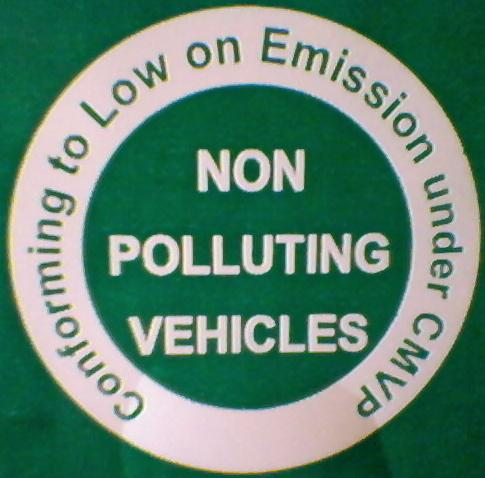 Non Polluting Vehicle Mark