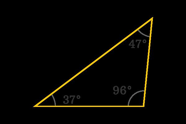 সথূলকোণী ত্রিভূজ (Obtuse angled triangle)