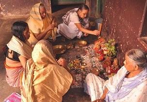ভারতীয় কৃষিজ সমাজে ধর্মীয় আচার আচরণ প্রকট