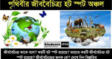 জীববৈচিত্র্য হট স্পট (Biodiversity Hot Spot)