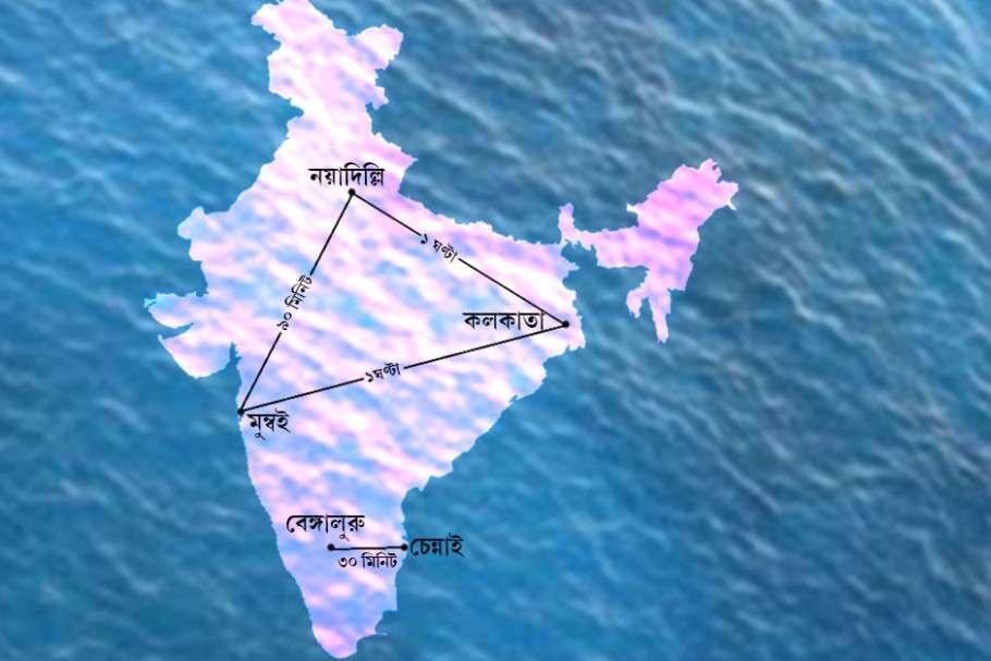 ভারতের বিভিন্ন শহরকে হাইপারলুপ ট্রেন