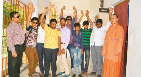 নরেন্দ্রপুর রামকৃষ্ণ মিশন ব্লাইন্ড বয়েজ স্কুলে সন্দীপ