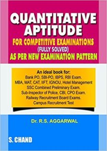 Quantitative Aptitude for Competitive Examinations (Old Edition) by S Chand