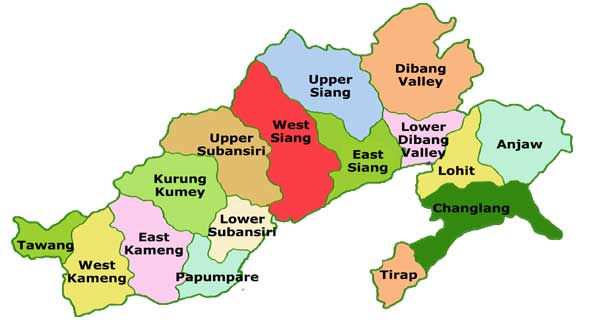 arunachal pradesh map