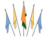 অন্যান্য পতাকার সঙ্গে ভারতের জাতীয় পতাকা একসাথে প্রদর্শন করার নিয়ম