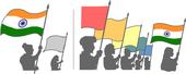 শোভাযাত্রা বা কুচকাওয়াজর সময়ে ভারতের জাতীয় পতাকার ব্যবহার