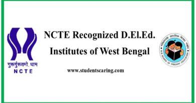 NCTE Recognized D.El.Ed. Institutes in West Bengal