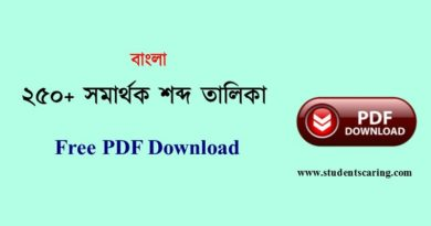 সমার্থক শব্দ তালিকা PDF
