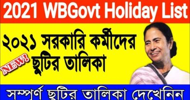 West Bengal Holiday List 2021