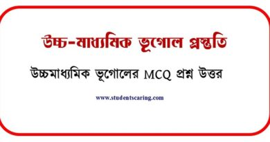 উচ্চমাধ্যমিক ভূগোল MCQ