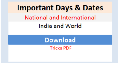 Important Days pdf in Bengali