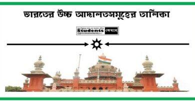 ভারতের হাইকোর্টের তালিকা PDF
