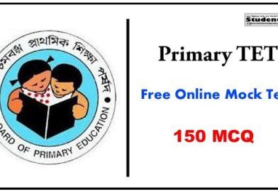 WB Primary TET Online Mock Test